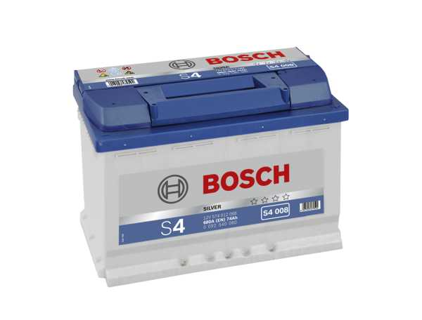 bosch starter batterie 12v 574 012 068 74ah s4 008 h6. Black Bedroom Furniture Sets. Home Design Ideas